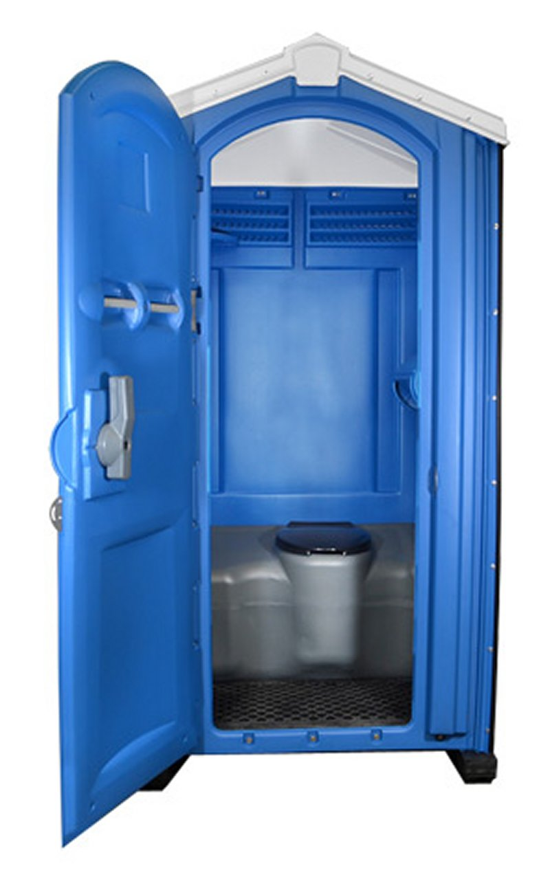 Global Portable Toilet - Blue - Offered by Vermilion Rental