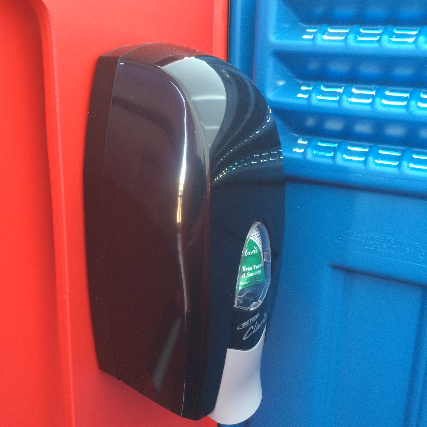 Foaming Hand Sanitizer Inside Portable Toilet